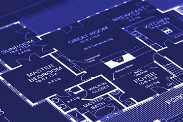 a house floor plan blueprint
